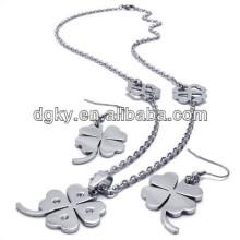 Quatro conjuntos de jóias Clover Folha Conjuntos de jóias nupcial baratos