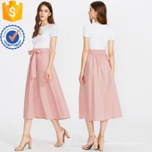 Bow Tie Taille Jupe de Poche Cachée Fabrication En Gros Mode Femmes Vêtements (TA3091S)
