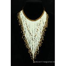 collier de perles à la main de conception unique