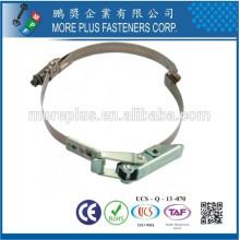 Fabriqué en Taiwan Stainless Steel Schlauchklemmen Quick Release Pipe Tuyau Clamp