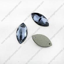 Decorativo hecho a mano coser en diamantes de imitación con agujeros para vestido de novia