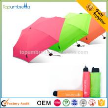 Funky Handbuch Open Pocket Micro Mini Super Licht 5 Falten Regenschirm für den Komfort