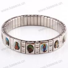 Nearest Hot Sale Fashion Watch Chain, Catholic Rosary Saint Meatl Elastic Bracelet