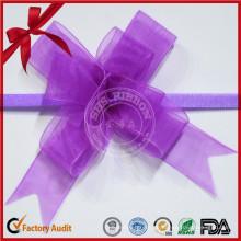Benutzerdefinierte Farbe Hallween Sheer Pull Bow für Frauen