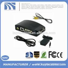 Композитный видео AV S-Video RCA для ПК Ноутбук VGA TV Конвертер адаптер поле Новое