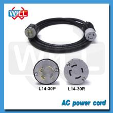 UL CUL 30A 50A NEMA L14-30P power cord with NEMA L14-30R