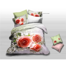 2015 New Hot Selling Products 100% Algodão Bedding Set 3D Luxo Rosas China Fábrica