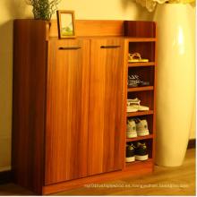 Gabinete de zapato grande de dos puertas, gabinete de zapato del MDF de la melamina