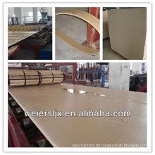 Die meisten professionellen CE-Zertifizierung Bau Möbel PVC-Kunststoff-Composite-Maschine