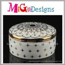 Caja de joyería de cerámica decorativa casera moderna barata de la manera del precio