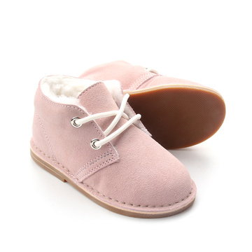 Warme Winter Baby Kinder Plüsch Lederschuhe