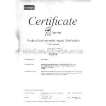 Хлопчатобумажная ткань с сертификатом воздействия окружающей среды продукт