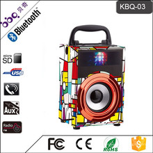 BBQ KBQ-03 5W 600mAh Holz wiederaufladbare tragbare Lautsprecher