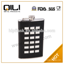 special hip flask with wrap leather