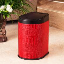 Modische rote Lederpresse Müllbehälter (H-3LL)