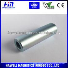 Спеченный неодимовый магнит, форма большого цилиндра, покрытие ZN, NI