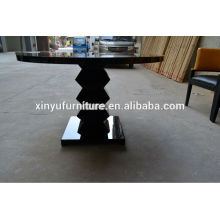 Solid wood black restaurant table XT7020