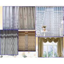 Окно занавес вышивки с мягкие и удобные вручение чувство