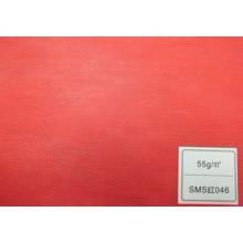 Tissu SMS (rouge 55GSM)