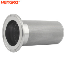 2um to 120um sintered 316 316L stainless steel wire mesh filter tube filter element for coffee water filtration