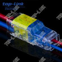 Conector de fio rápido para iluminação LED com 2 pinos