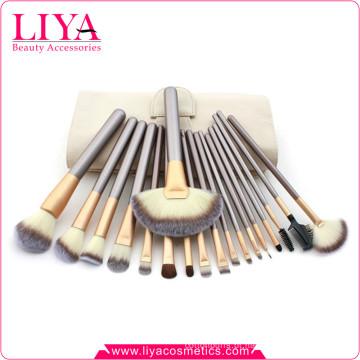 Define 2015 alta qualidade 18pcs nylon populares cosmética escova de cabelo