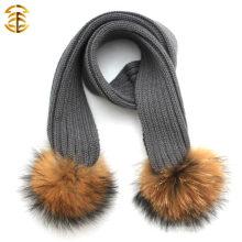 Kind-moderner Großhandelsqualitäts-reizender warmer Kind-strickender Schal für Winter