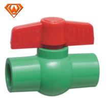 Válvula de bola plástica del control de la unión del PVC PPR del precio de China