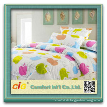 100% cotton hand embroidery bed sheet for hotel hospital