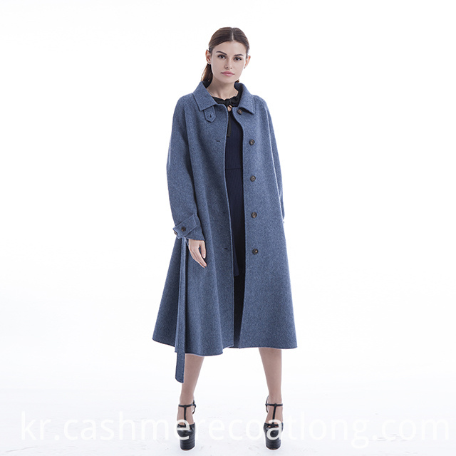 Blue cashmere coat