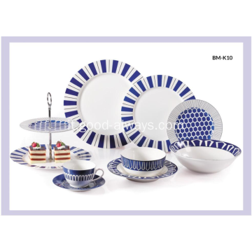 Nuovo Bone China Decal Dinnerware