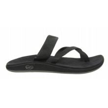 Sandalias slip-on de cuero de grano entero, cómodas y ocasionales