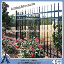 Baochuan fabuloso caliente sumergido cerca de acero galvanizado / hierro forjado / cerca de aluminio