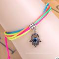 Bracelet de diamant de fil coloré d'oeil mauvais (XBL13490)