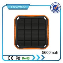 2016 Nuevo modelo de alta capacidad portátil de energía solar Banco 5600mAh cargador solar