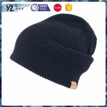 Зимняя акриловая вязаная шляпа качества OEM