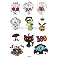 Fashionable Halloween theme human body art Temporary Tattoos with Factory price