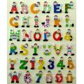 Madera alfabetos y números con pintura (81461 & 81462) de la mano