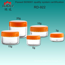 Small Plastic Jar for Cosmetic Packing