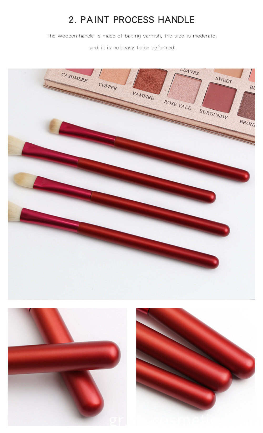 12 PCS Red Handle Makeup Brushes Set 5