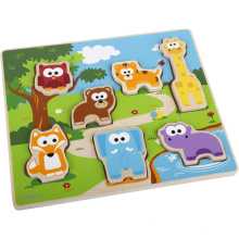 Hape Water Based Paint 3D Wooden Puzzles Of Animals