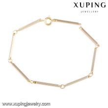 74547 Xuping Fine Jewelry nuevo diseño pulsera de oro con buena calidad
