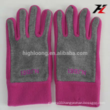 Cute lady fleece gloves with high quality