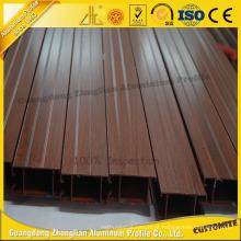 Janela de obturador de alumínio de grão de madeira Zhonglian
