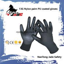 13G Polyester Palm PU beschichteter Handschuh En 388 4131