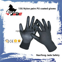 13G Black PU Coated Work Glove