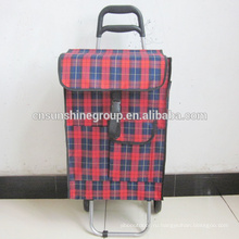 Customizable convenience foldable women used shopping trolley bag from China supplier