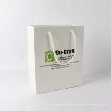 Fantaisie célèbre célèbre sac de papier cadeau de marque pour l'emballage