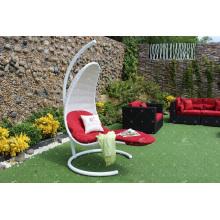 Chaise élégante à osier à rotin en polyéthylène pour meubles en osier pour jardin extérieur