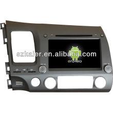 Reprodutor de DVD do carro do sistema de Android para 2006-2011 Honda Civic com GPS, Bluetooth, 3G, iPod, jogos, zona dupla, controle de volante